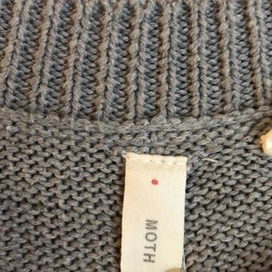 Anthropologie Sweaters - Anthropologie Moth gray sweater lace shoulder S